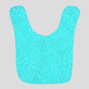 Aqua Texture Curtain Bib