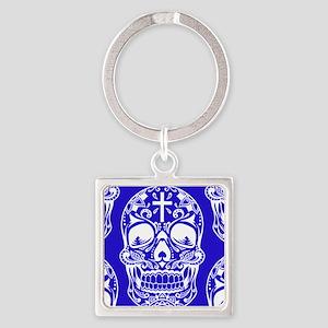 Sugar Skull Midngiht Blue Keychains