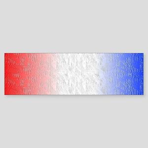 Red White and Blue Stripe Bumper Sticker