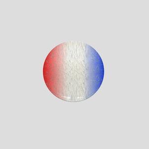Red White and Blue Stripe Mini Button