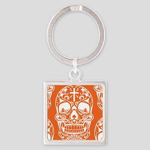 Sugar Skull Orange Keychains