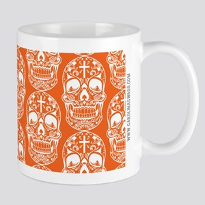 Sugar Skull Orange Mugs