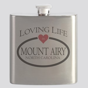 Loving Life in Mount Airy, NC Flask
