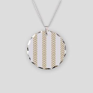 White Gold Chevron Arrows Necklace