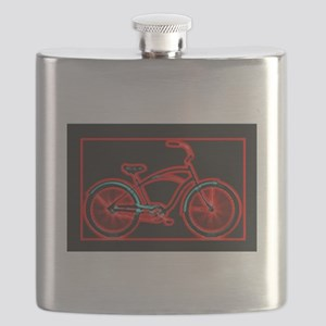 Black Neon Red Bicycle Flask