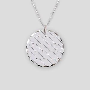 Diagonal Arrow Pattern Illustration Necklace
