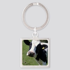 Cow Square Keychain