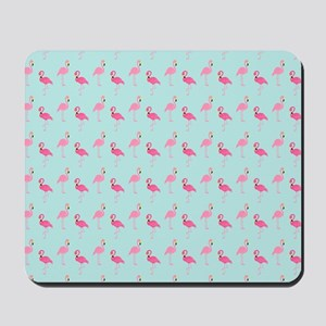 Pink Flamingos Pattern Mousepad