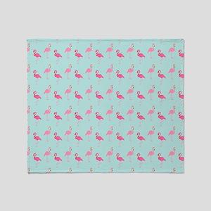 Pink Flamingos Pattern Throw Blanket
