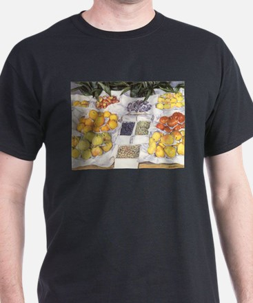 Fruit Stand by Caillebotte T-Shirt