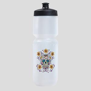 Sugar Skull WHITE Sports Bottle