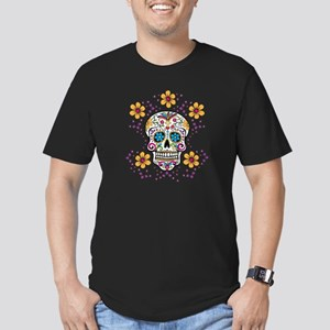 Sugar Skull WHITE Men's Fitted T-Shirt (dark)