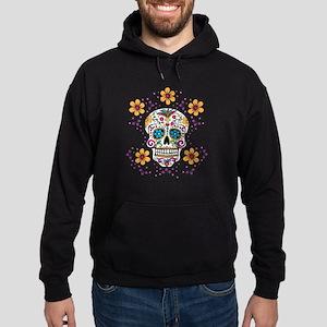 Sugar Skull WHITE Hoodie (dark)