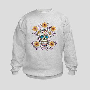 Sugar Skull WHITE Kids Sweatshirt