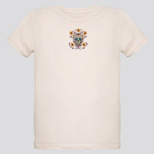 Sugar Skull WHITE Organic Kids T-Shirt
