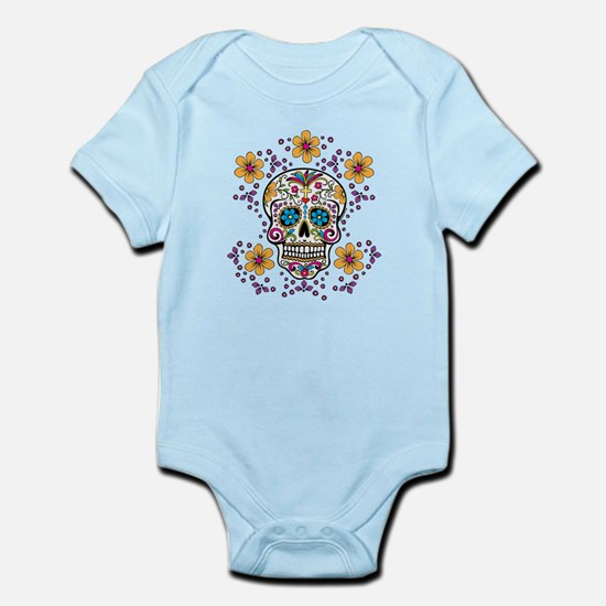 Sugar Skull WHITE Infant Bodysuit