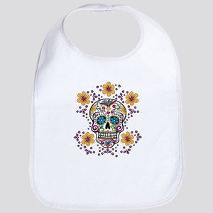 Sugar Skull WHITE Bib