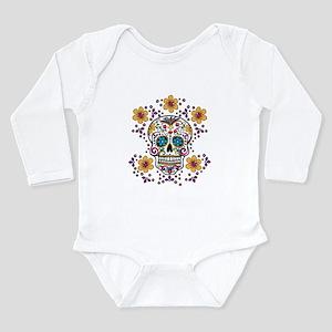 Sugar Skull WHITE Long Sleeve Infant Bodysuit