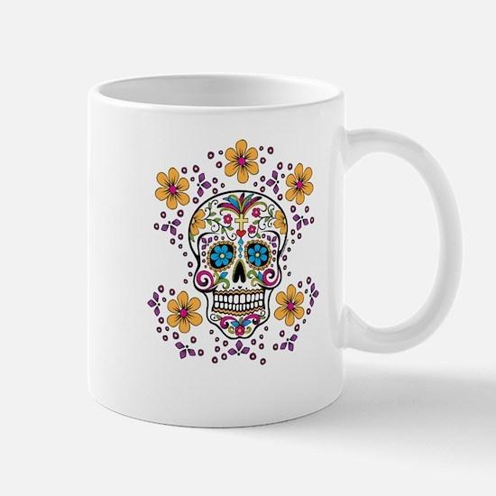 Sugar Skull WHITE Mug