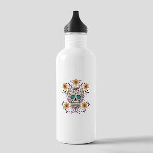 Sugar Skull WHITE Stainless Water Bottle 1.0L
