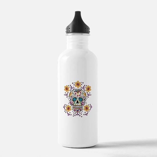 Sugar Skull WHITE Water Bottle