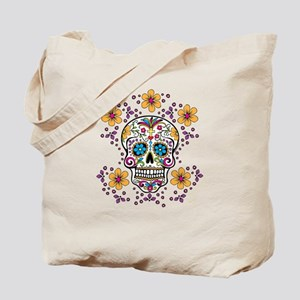 Sugar Skull WHITE Tote Bag