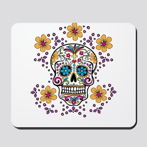 Sugar Skull WHITE Mousepad