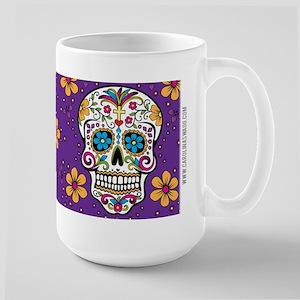 Sugar Skull PURPLE Large Mug