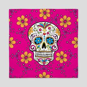 Dead Sugar Skull, Halloween Queen Duvet