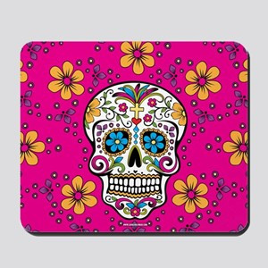 Dead Sugar Skull, Halloween Mousepad