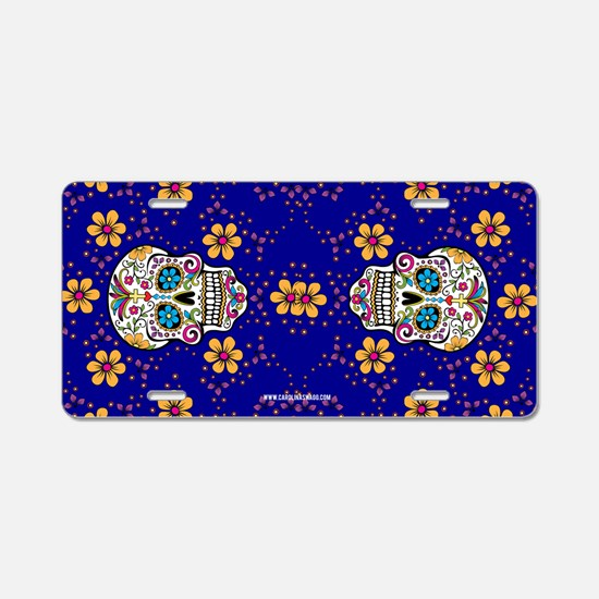 Dead Sugar Skull, Halloween Aluminum License Plate