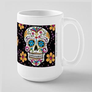 Dead Sugar Skull, Halloween Large Mug