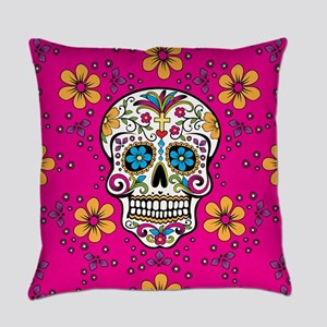 Dead Sugar Skull, Halloween Everyday Pillow