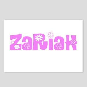 Zariah Flower Design Postcards (Package of 8)