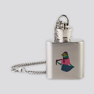 Fashion Sparrow Flask Necklace