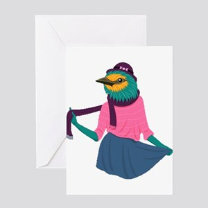 Fashion Sparrow Greeting Cards