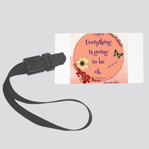 Don't Give Up Large Luggage Tag
