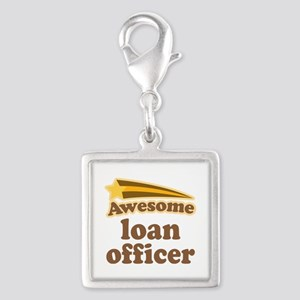 Loan Officer Silver Square Charm