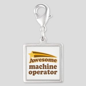 Machine Operator Silver Square Charm