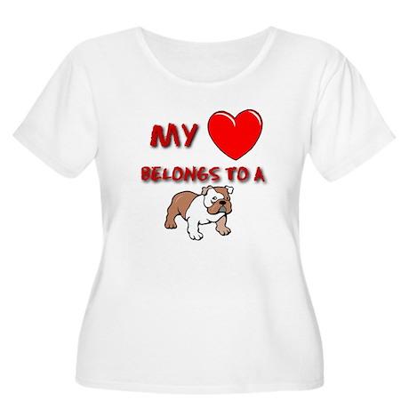 Bulldog gifts for women Women's Plus Size Scoop Ne