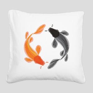 Japanese Koi Square Canvas Pillow
