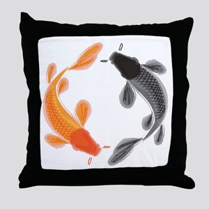 Japanese Koi Throw Pillow