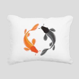 Japanese Koi Rectangular Canvas Pillow