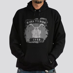 Birthday 1960 Born To Ride Hoodie (dark)