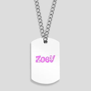 Zoey Flower Design Dog Tags