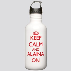 Keep Calm and Alaina O Stainless Water Bottle 1.0L