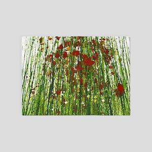 Red Wild Grass 5'x7'Area Rug
