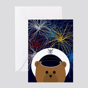 Happy 4th July Air Force Cadet Card Greeting Cards