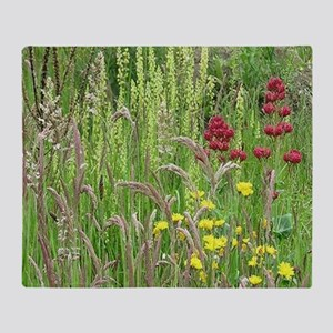 Spring Wild Grass Throw Blanket