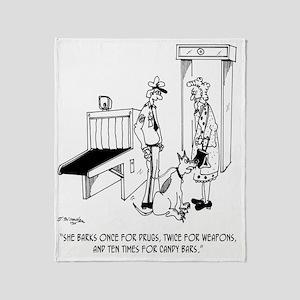 Security Cartoon 5589 Throw Blanket